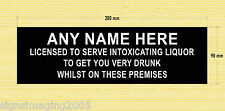 HOME BAR SIGN MANCAVE DAD MUM  BROTHER BBQ GARDEN PARTY LICENSEE SIGN XMAS