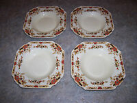 "(4) Wedgwood Denbigh China 8 3/8"" Large Rim Soup Bowl Discontinued. Very nice!"