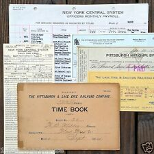 100 Vintage Original 1900-1980s RAILROAD TRAIN RAILWAY Paper Document Lot NOS