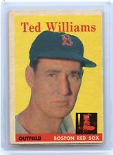 1958 TOPPS BASEBALL #1 TED WILLIAMS - BOSTON RED SOX, HOF (A)