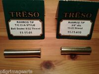 TRESO Ramrod Tip Ball seater & Ramrod End solid brass 01 & 610 Muzzleloading USA