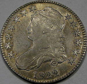 1822 O-115 Capped Bust Half Dollar Abt. AU... Flashy and Very NICE, Great Coin!!