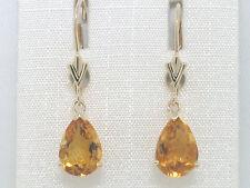 Citrin Ohrhänger Ohrpendel 585 Gelbgold 14Kt Gold natürlicher Citrin