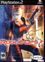 Rogue Ops PS2 PlayStation 2 Video Game complete with manual