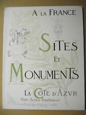 SITES ET MONUMENTS LA CÔTE D'AZUR VAR ALPES MARITIMES TOURING CLUB FRANCE 1903