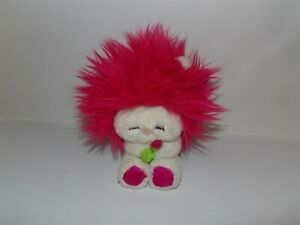 RARE Vintage 1982 Dakin Frou Frou Nature Babies White w Pink Hair & Flower (*32)