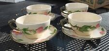 Franciscan Desert Rose Cups and Saucers Set of 4 made in England