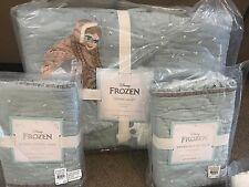 Pottery Barn Kids Disney FROZEN full quilt shams sheet set icy PRINCESS