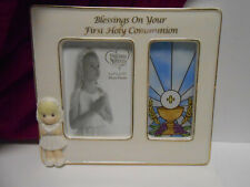 Precious Moments girl Communion Frame Blessings  On Your First Holy Communion