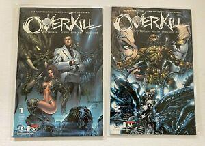 Overkill Witchblade Aliens Darkness Predator set #1-2 Dark H 8.0 VF (2000-'01)