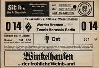 Ticket II. BL 80/81 SV Werder Bremen - Tennis Borussia Berlin