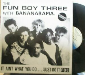 "FUN BOY THREE With BANANARAMA ~ It Aint What You Do... ~ 12"" Single PS"