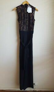 Misha Collection Josie Pantsuit Lace Jumpsuit Size AU 10 / US 6  - Black