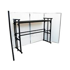 Lighting Screen with 4FT Disco Stand and Shelf Complete DJ Booth Stand Kit