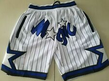 Orlando Magic Vintage Basketball Game Shorts NBA Men/'s NWT Stitched Pants White