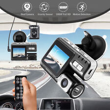 HD Dual Lens Car DVR Dash Cam Recorder Night Vision Remote Control + Rear View