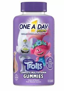 One A Day Kids Trolls Complete Multivitamin Gummies - Fruit Flavors - 180ct