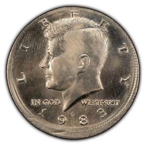 1983-P 50c Kennedy Half Dollar - Mint Error Dramatic Off-Center Strike - Y3566
