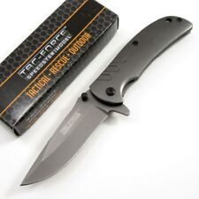 New Tac-Force Classic Small Everyday Spring Assist Folding Pocket Knife Gray