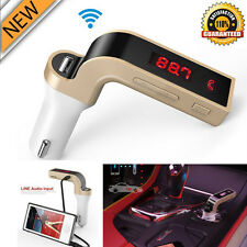 G7 Handsfree Bluetooth Car Kit FM Transmitter Radio MP3 Player USB Charger & AUX
