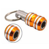 Portable Stainless Steel Magnetic 1/4 Screwdriver Bit Holder Socket Rod Key Ring