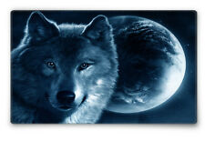 Silent Monsters Gaming und Office Mauspad 24 x 20 cm, Mousepad Design: Wolf