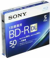 Sony 5pack BD-R DL 50GB 4x Blu-ray Disk BD R Blank Disc JAPAN OFFICIAL IMPORT