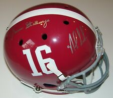 Nick Saban & Gene Stallings Signed Auto UA Alabama Crimson Tide Full Size Helmet