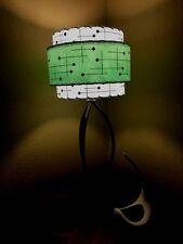 Mid Century Vintage Style 3 Tier Fiberglass Lamp Shade Modern Atomic Sea Foam