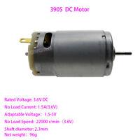 DC 3.6V 22000RPM High Speed Motor DIY Electric Tools Mini Electric Grinder Motor