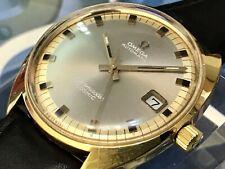 Goldene Omega Seamaster Cosmic Antrazit Automatik 565 Datum 20mic Läuft gut 35m*