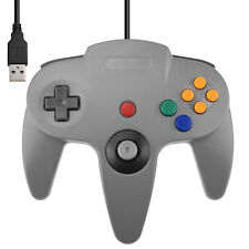 Direct USB N64 Wired Classic Controller Pad for Windows PC Mac Gray Grey