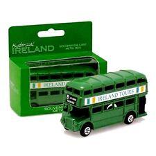 New Historical Ireland Souvenir Die Cast Green Double Decker Bus - Irish Gifts