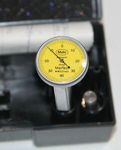 """Mahr 4302200 800 V MarTest Test Indicator, 0.01 mm x ± 0.4 mm, 1.1"""" Dial, 0.57"""""""