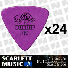 24 x Jim Dunlop Tortex Triangle 1.14mm Gauge Guitar Picks *NEW* Plectrums