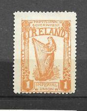 More details for ireland irish 1912 imperial union label 1 orange lady playing harp  (ref 0182)