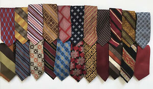 Lot of 22 Vintage Haband Ties Polyester 60s 70s 80s Mod Rockabilly Neckties