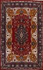 Vintage Floral Bokhara Oriental Area Rug Hand-knotted Living Room Carpet 9'x13'