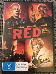 Red (DVD, 2010, Region 4) Bruce Willis, Morgan Freeman - New & Sealed