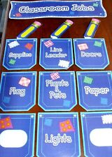 LAMINATED BACK TO SCHOOL CLASSROOM JOBS TEACHER'S HELPERS BULLETIN BOARD POSTERS