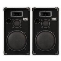 """Acoustic Audio CR12 Passive 12"""" DJ Speaker Pair 3 Way PA Karaoke Band Speakers"""