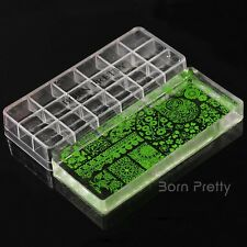 3Pcs/set Stamper Scrapers Kit Nail Art Gigantic Clear Jelly Silicone Born Pretty