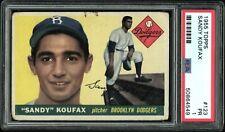 "1955 Topps #123 SANDY KOUFAX ROOKIE PSA 1 PR ""HOT ROOKIE"""