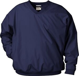 Badger Men/'s Hook V Neck Collar Long Sleeve Windbreaker Outerwear Jacket New