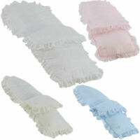 Beautiful Frilly Broderie Anglaise Footmuff/ Cosy Toes Baby Jogger City