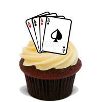 Spiel-karten Eßbar Torten-Bild-Aufleger Party Deko Muffin Geburtstag Poker Skat