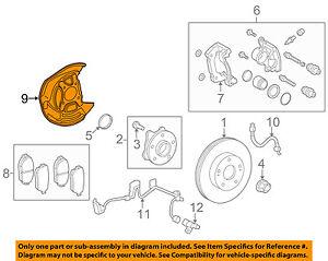 47781-30230 Toyota Cover, disc brake dust, front rh 4778130230, New Genuine OEM