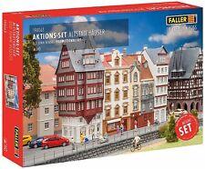Faller 190063 H0, Altstadthäuser, 4 Häuser, Stadthäuserzeile, Bausatz, Epoche I