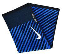 "Nike Golf Face/Club Jacquard Towel N87423 Black/Military Blue 16"" x 24"" (#64278)"