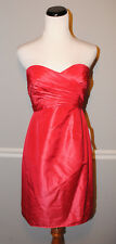 J.Crew Kristin Dress in Silk Taffeta Strapless #28841 Bright Poppy Red 4 $250